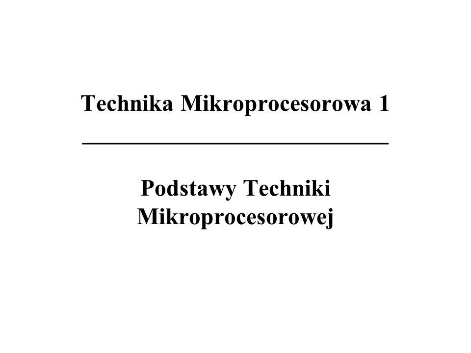 Architektury - pojęcia 8/8 Mikroprocesor uniwersalny - procesor wymagający przy konstruowaniu systemu mikroprocesorowego (systemu mikrokomputerowego) dołączenia zewnętrznych układów: pamięci operacyjnej; urządzeń zewnętrznych.