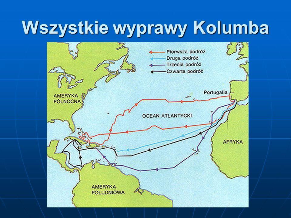 Wszystkie wyprawy Kolumba