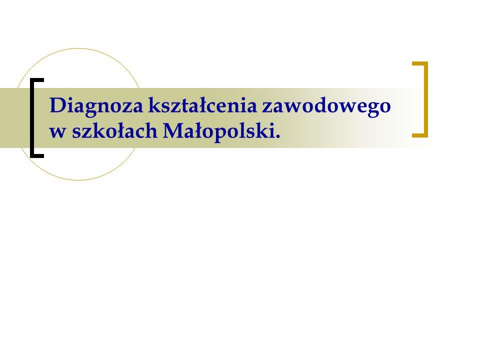 Diagnoza kształcenia zawodowego w szkołach Małopolski.