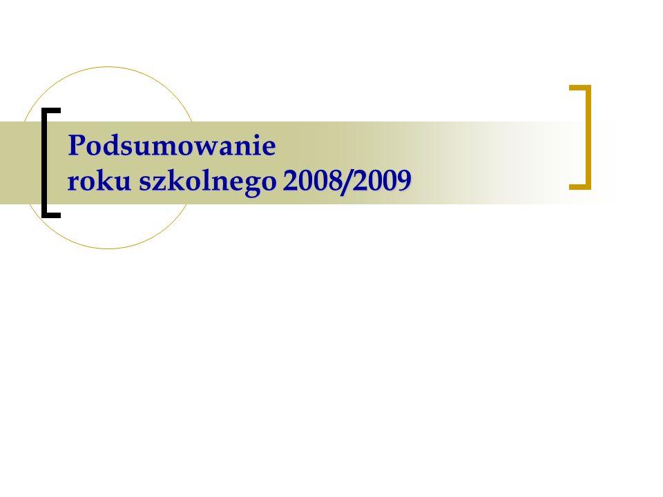 Podsumowanie roku szkolnego 2008/2009