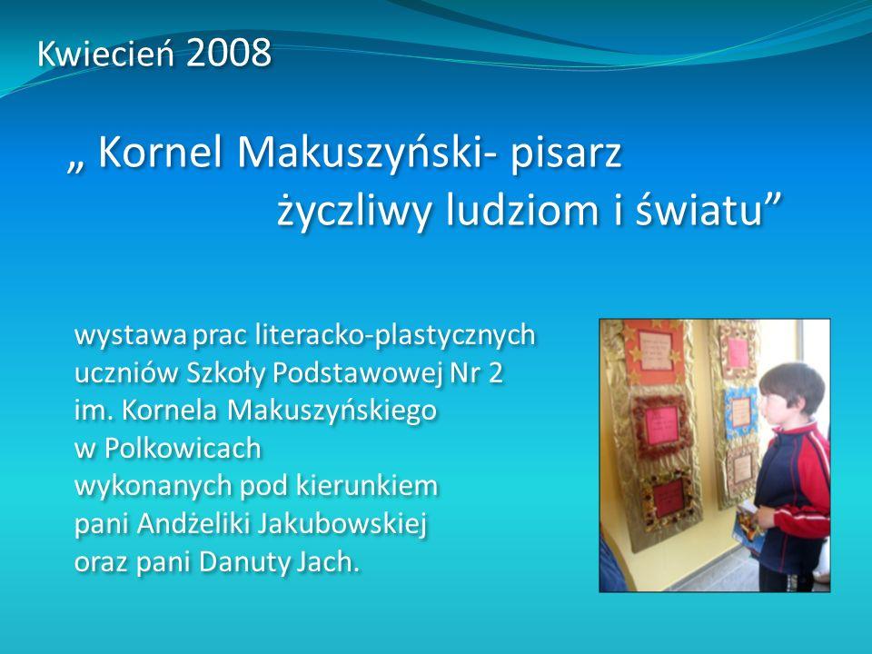 wystawa prac literacko-plastycznych uczniów Szkoły Podstawowej Nr 2 im. Kornela Makuszyńskiego w Polkowicach wykonanych pod kierunkiem pani Andżeliki
