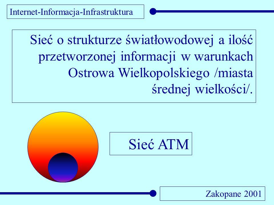 Internet-Informacja-Infrastruktura Zakopane 2001 Sieć o strukturze światłowodowej a ilość przetworzonej informacji w warunkach Ostrowa Wielkopolskiego /miasta średnej wielkości/.
