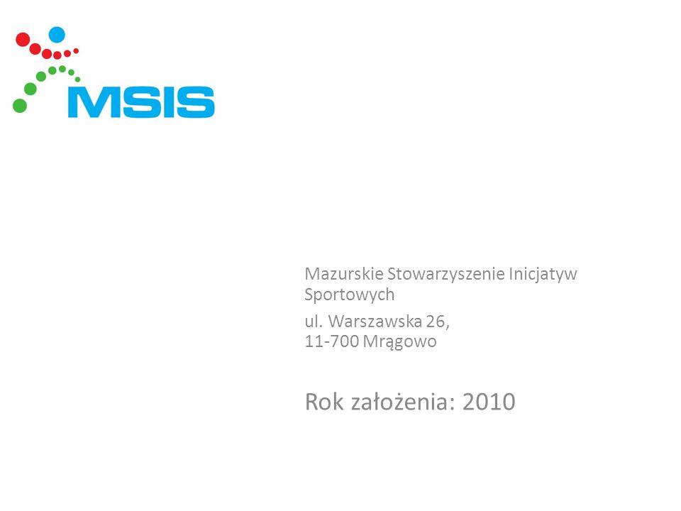 Mazurskie Stowarzyszenie Inicjatyw Sportowych ul. Warszawska 26, 11-700 Mrągowo Rok założenia: 2010