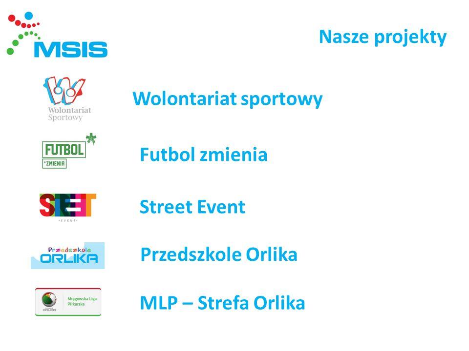 Nasze projekty Wolontariat sportowy Futbol zmienia Street Event Przedszkole Orlika MLP – Strefa Orlika