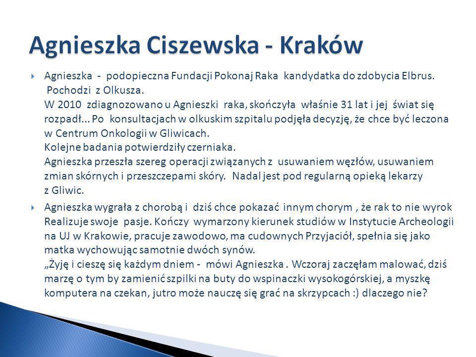 Agnieszka - podopieczna Fundacji Pokonaj Raka kandydatka do zdobycia Elbrus.