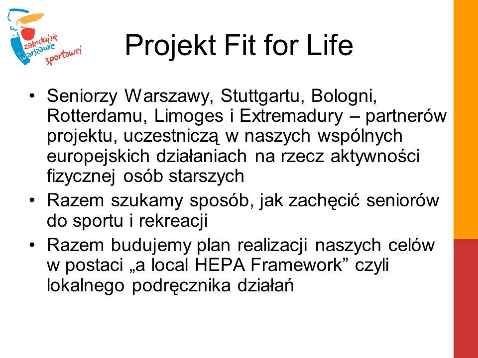 Projekt Fit for Life Warszawa tworzy stronę internetową: www.sportowa.warszawa.pl/senior Na której będziemy prezentować program zajęć i aktywności sportowych i rekreacyjnych dla seniorów na terenie naszego miasta