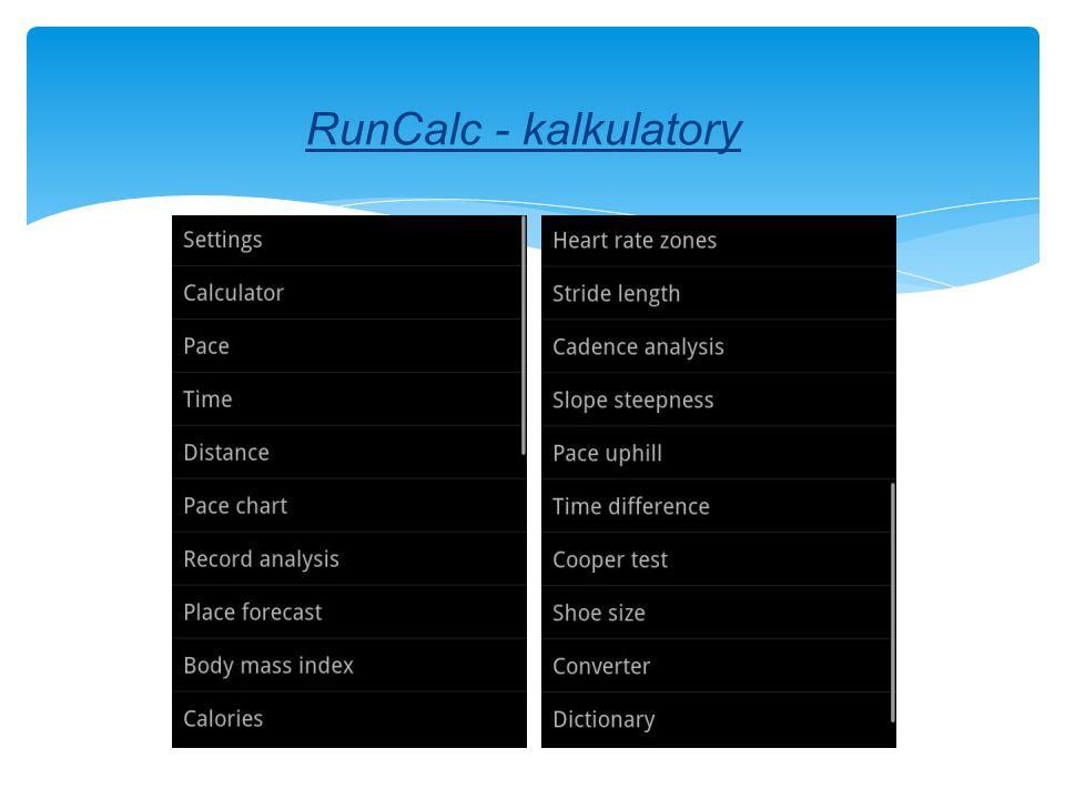 RunCalc - kalkulatory