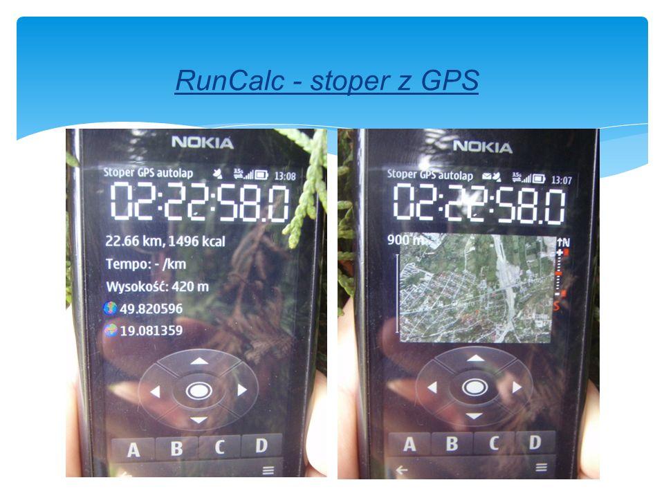 RunCalc - stoper z GPS