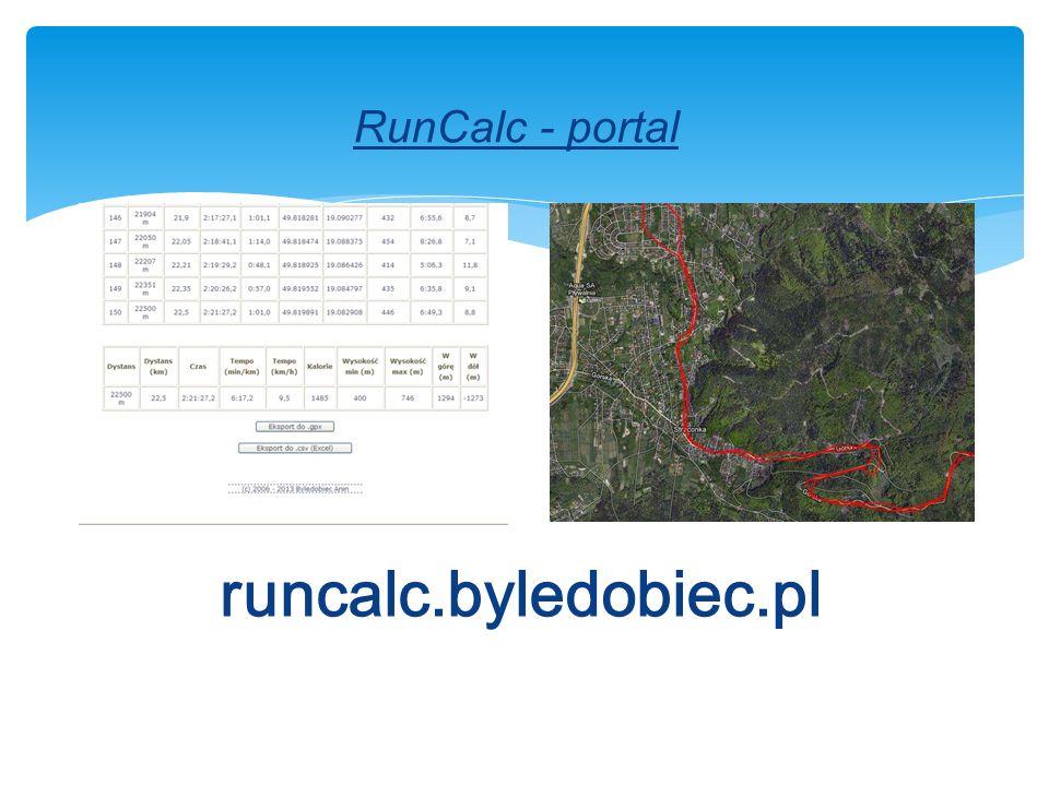 RunCalc - portal runcalc.byledobiec.pl
