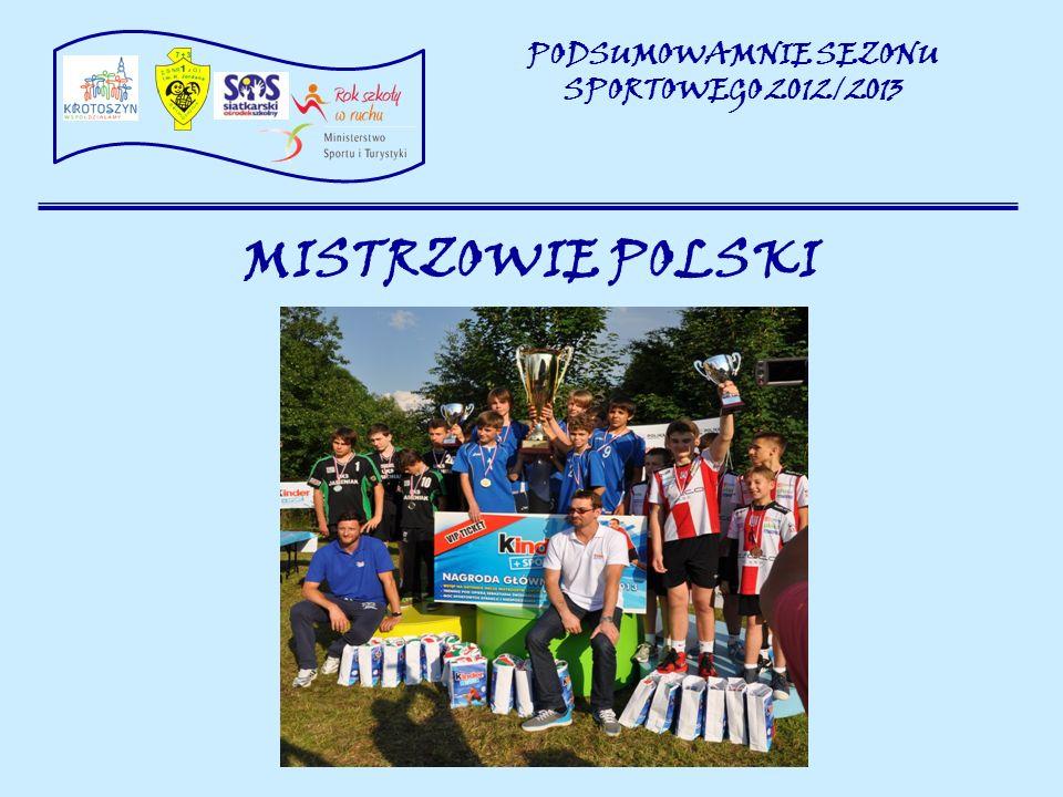 MISTRZOWIE POLSKI PODSUMOWAMNIE SEZONU SPORTOWEGO 2012/2013