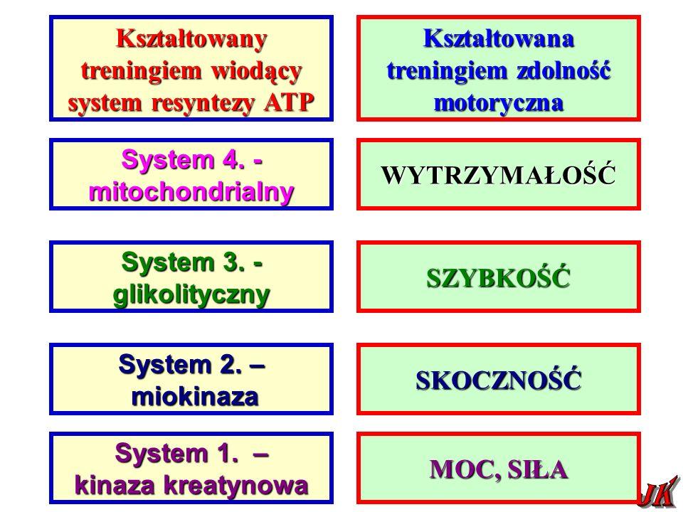 System 4.- mitochondrialny System 3. - glikolityczny System 2.