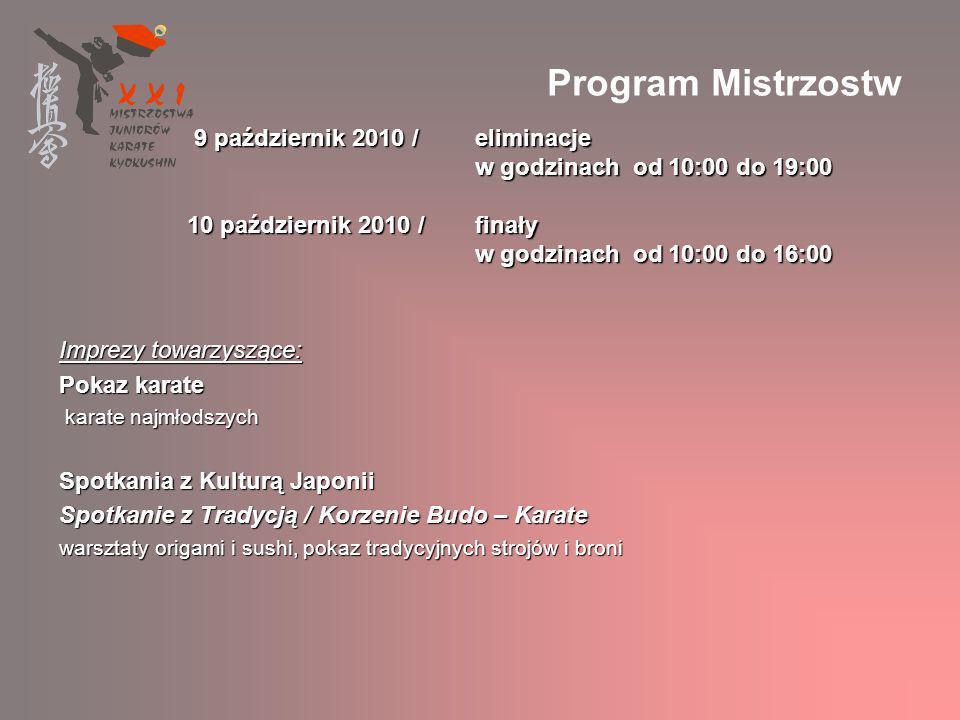 Ogólnopolskie Wydarzenie Medialne Ogólnopolskie Wydarzenie Medialne XXI Mistrzostwa Polski Juniorów KARATE KYOKUSHIN 9-10 X 2010 Kraków odbędą się pod Patronatem Medialnym prasy lokalnej i ogólnopolskiej o tematyce sportowej, lifestylowej i codziennej, w której pojawią się zapowiedzi, wywiady, artykuły, relacje i zdjęcia odbędą się pod Patronatem Medialnym prasy lokalnej i ogólnopolskiej o tematyce sportowej, lifestylowej i codziennej, w której pojawią się zapowiedzi, wywiady, artykuły, relacje i zdjęcia rozgłos nada radiowy Patron Medialny, przy udziale lokalnej telewizji rozgłos nada radiowy Patron Medialny, przy udziale lokalnej telewizji TVNet przeprowadzi transmisję na żywo - poprzez 2 kamery i studio realizatorskie na miejscu TVNet przeprowadzi transmisję na żywo - poprzez 2 kamery i studio realizatorskie na miejscu o Mistrzostwach głośno będzie też w Internecie: na poświęconej im stronie, różnych portalach, stronach klubów, blogach, w mailach i pod postacią newslettera o Mistrzostwach głośno będzie też w Internecie: na poświęconej im stronie, różnych portalach, stronach klubów, blogach, w mailach i pod postacią newslettera