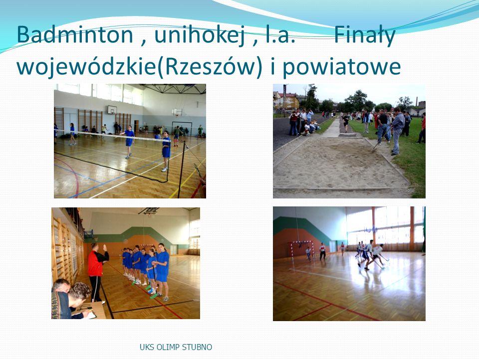 Reprezentacje szkoły: koszykówka i piłka nożna UKS OLIMP STUBNO