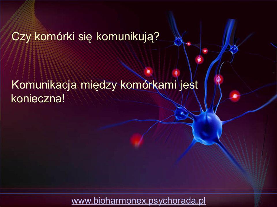 Czy komórki się komunikują? Komunikacja między komórkami jest konieczna! www.bioharmonex.psychorada.pl