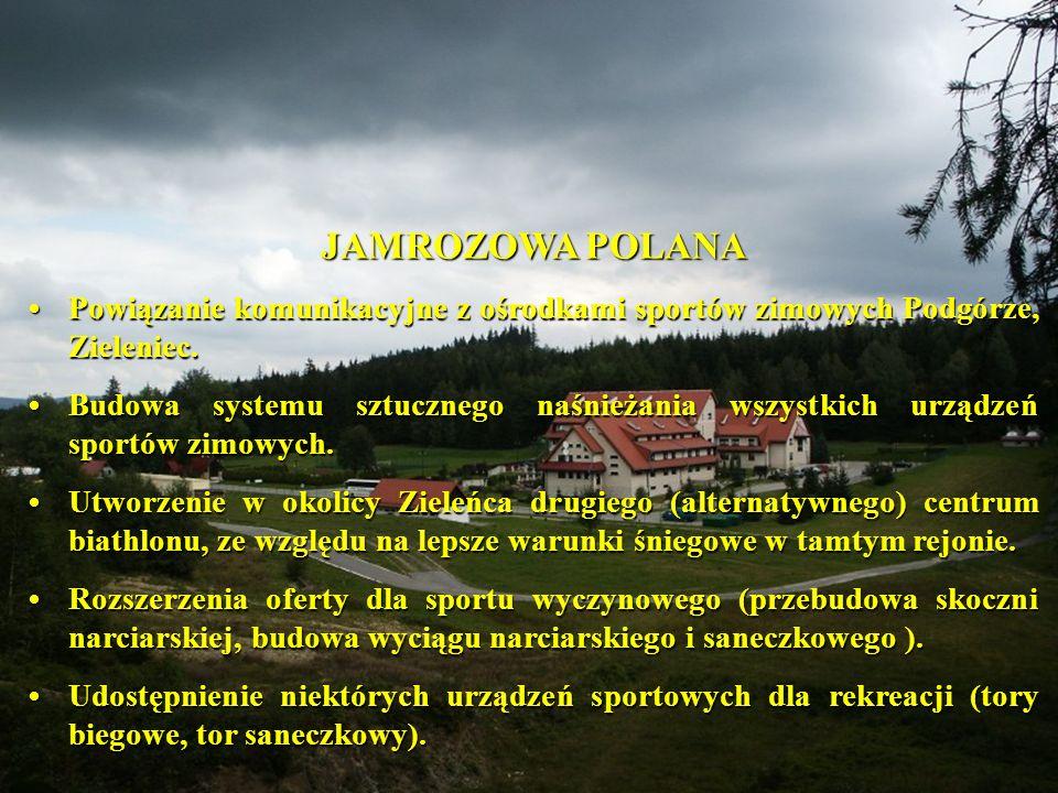 JAMROZOWA POLANA Powiązanie komunikacyjne z ośrodkami sportów zimowych Podgórze, Zieleniec.Powiązanie komunikacyjne z ośrodkami sportów zimowych Podgórze, Zieleniec.