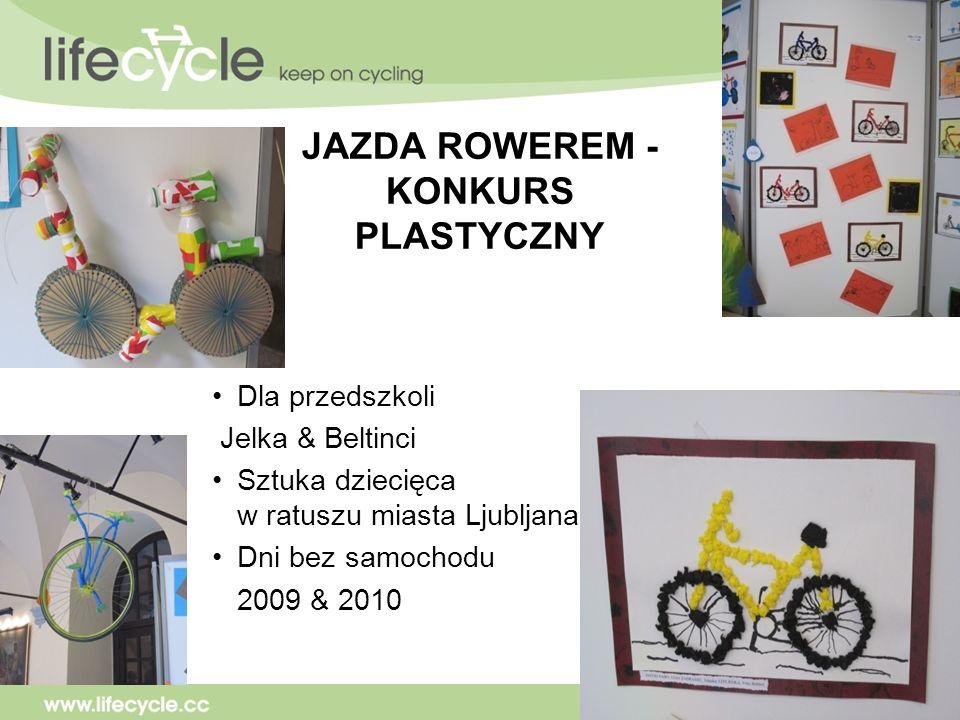 JAZDA ROWEREM - KONKURS PLASTYCZNY Dla przedszkoli Jelka & Beltinci Sztuka dziecięca w ratuszu miasta Ljubljana Dni bez samochodu 2009 & 2010