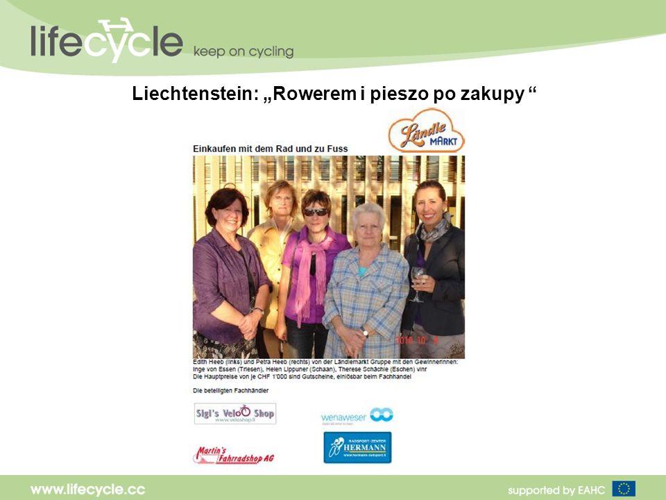 Liechtenstein: Rowerem i pieszo po zakupy