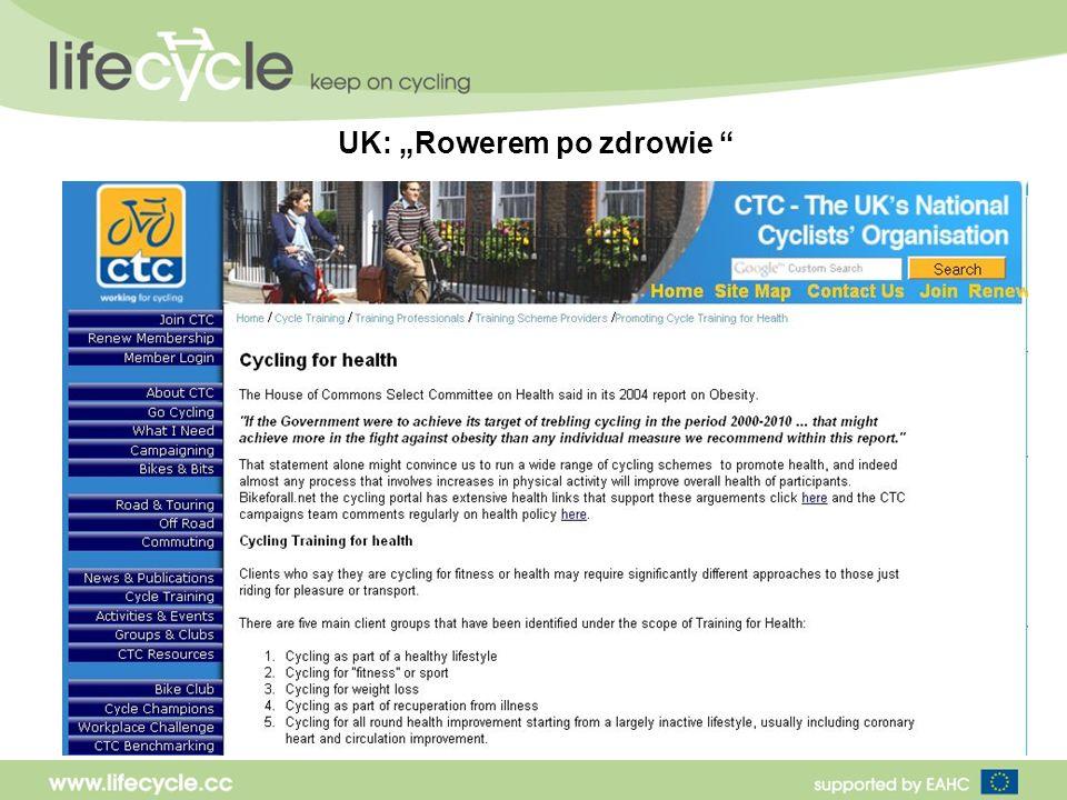 UK: Rowerem po zdrowie