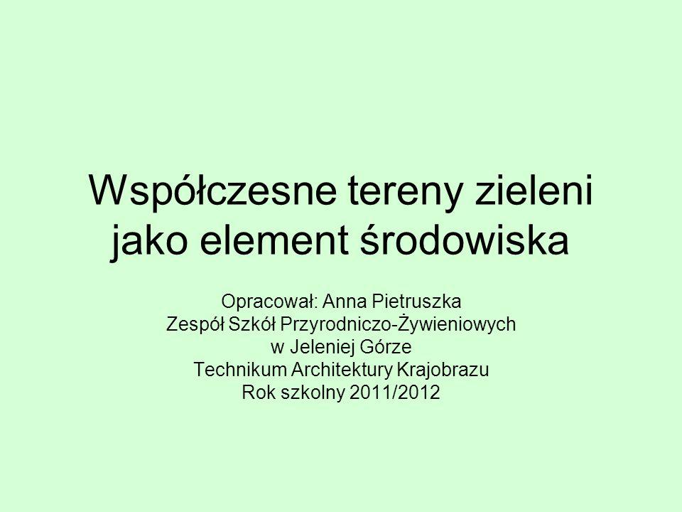 Aktualny wskaźnik powierzchni zielni na jednego mieszkańca w Polsce wynosi od 2,9 m2 (Bielsko-Biała) do 24 m2 (Poznań)