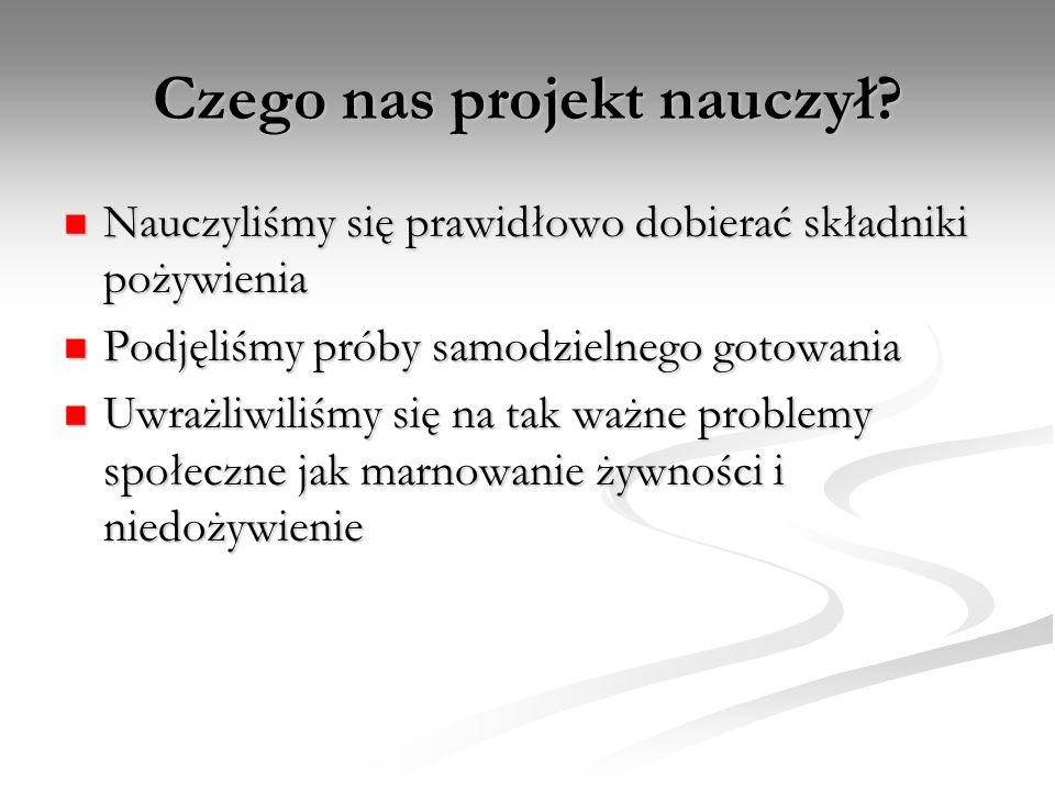 Czego nas projekt nauczył.