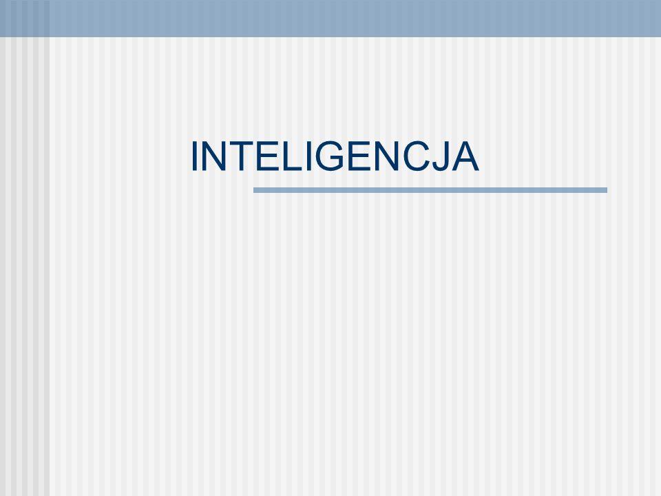 PLAN WYKŁADU Definicje Teorie inteligencji Czynnikowe teorie inteligencji Teorie czynników równorzędnych Biologiczne i kulturowe zdeterminowanie inteligencji Pomiar inteligencji Doskonalenie