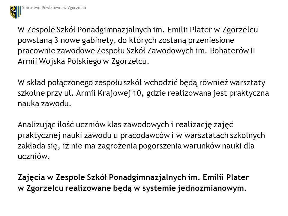 W Zespole Szkół Ponadgimnazjalnych im.