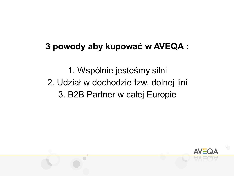 3 powody aby kupować w AVEQA : 1.Wspólnie jesteśmy silni 2.