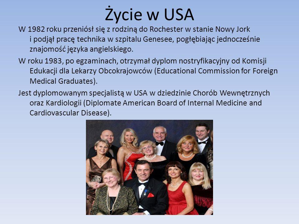 Życie w USA W 1982 roku przeniósł się z rodziną do Rochester w stanie Nowy Jork i podjął pracę technika w szpitalu Genesee, pogłębiając jednocześnie z