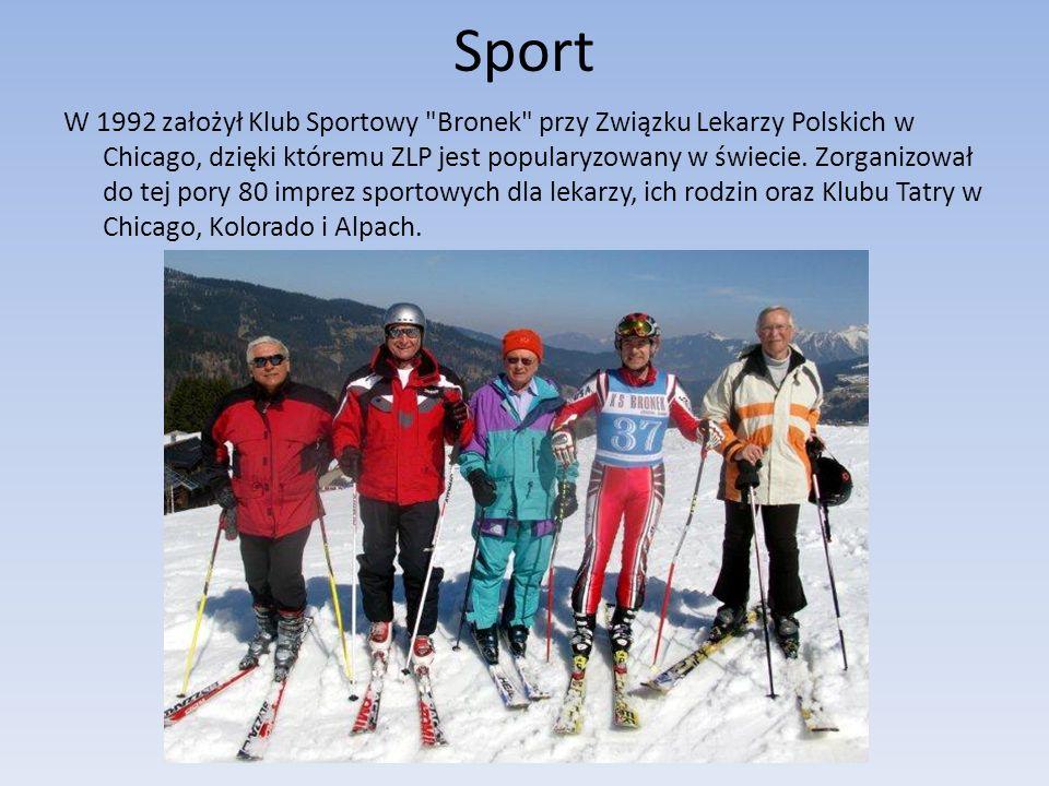 Sport W 1992 założył Klub Sportowy