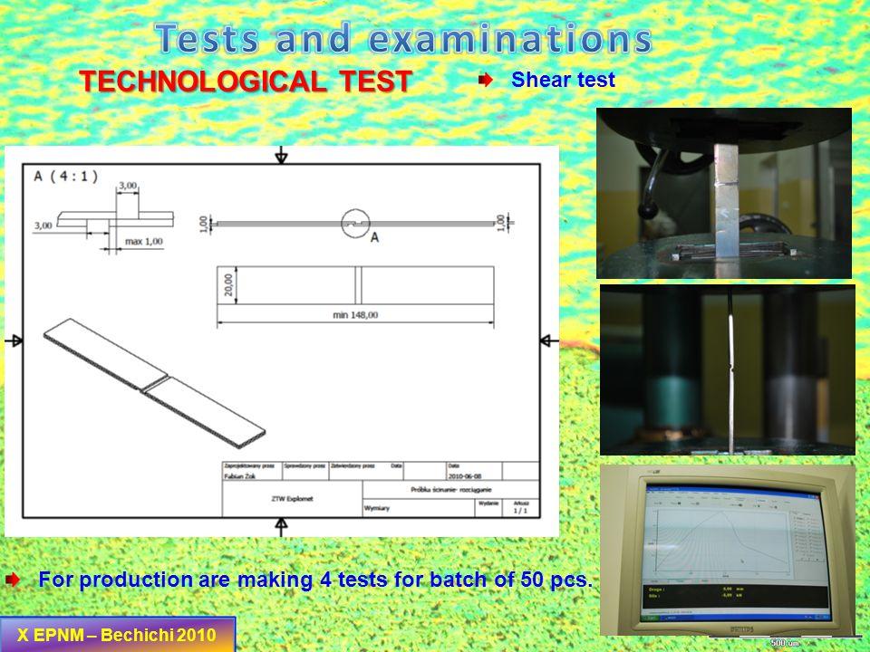 HARDNESS EXAMINATIONS HV 0,1 X EPNM – Bechichi 2010 GRAPH Ti Gr.1 Nickel Gr. 201