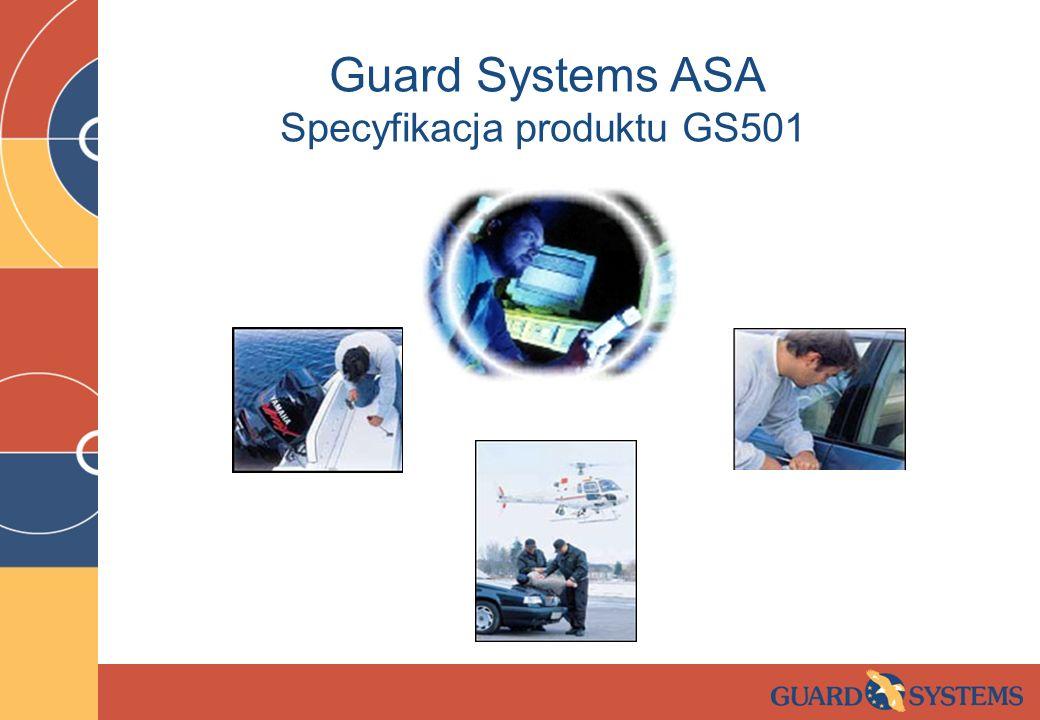 Guard Systems ASA Specyfikacja produktu GS501