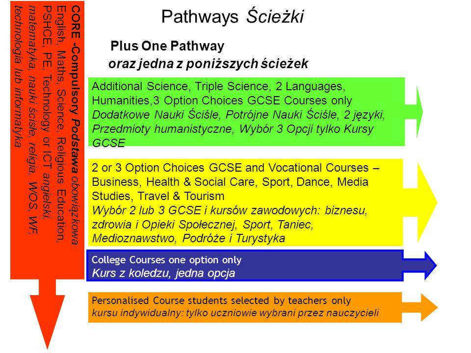 College Courses NVQs (Level 1) 3 x D - Gs Occupational Qualifications Kwalifikacje zawodowe Competencies Kompetencje Practically related Praktyczne Sk