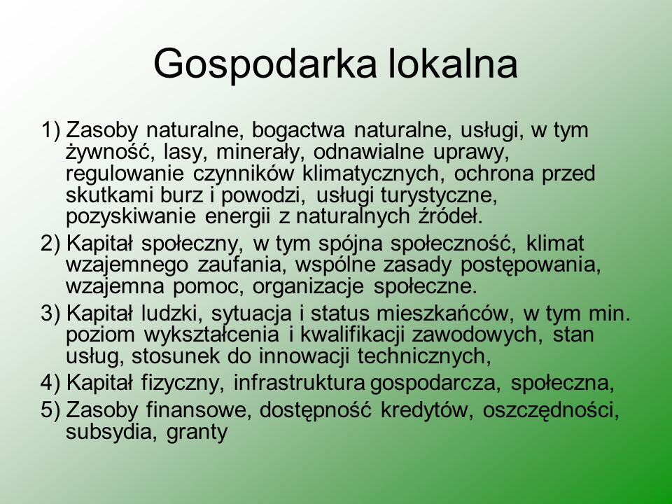 Czynniki ekonomiczne Wielkość i sposób funkcjonowania rynku dóbr i usług, zmiany na r.