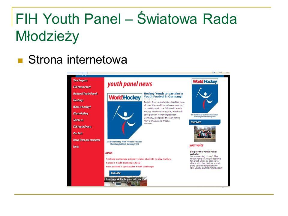 FIH Youth Panel – Światowa Rada Młodzieży Strona internetowa