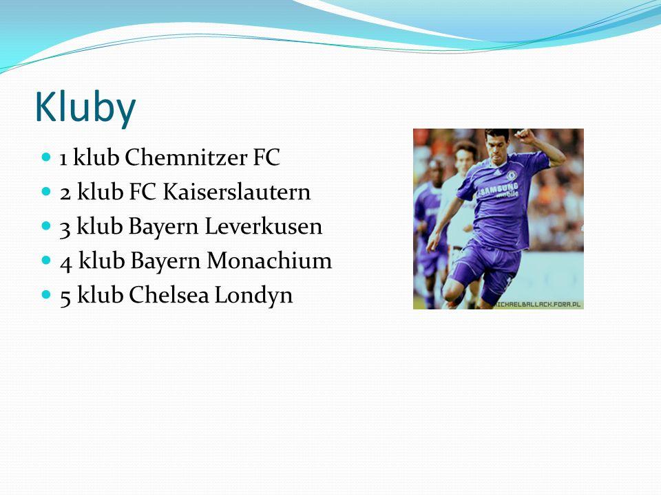 Kluby 1 klub Chemnitzer FC 2 klub FC Kaiserslautern 3 klub Bayern Leverkusen 4 klub Bayern Monachium 5 klub Chelsea Londyn