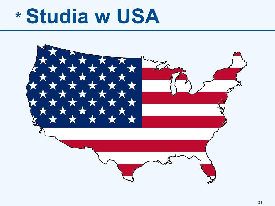 31 * Studia w USA