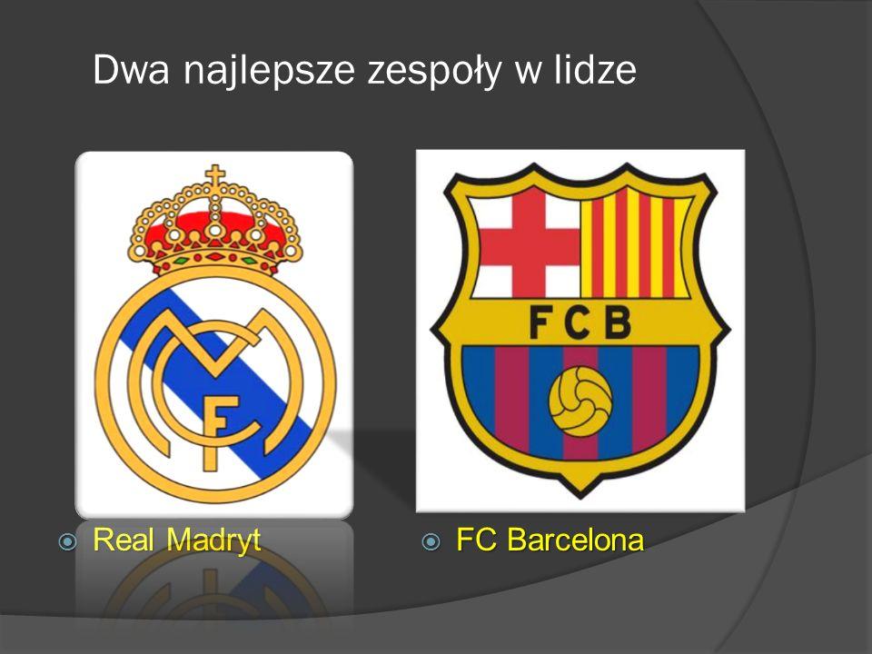 Dwa najlepsze zespoły w lidze Real Madryt Real Madryt FC Barcelona FC Barcelona