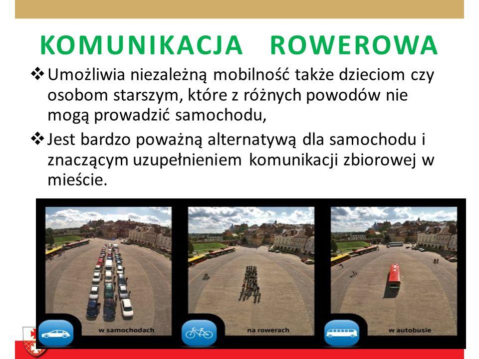 KOMUNIKACJA ROWEROWA Jazda w mieście powinna być asertywna - nie daj się zepchnąć na samo pobocze kilka centymetrów od krawężnika.