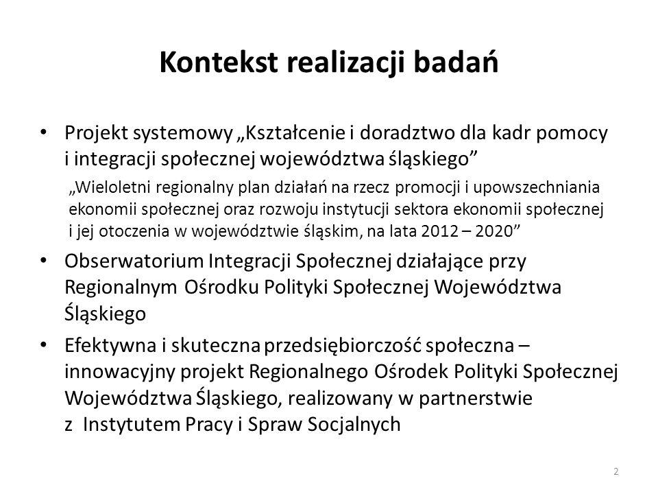Jednostki samorządu terytorialnego wobec wyzwań sektora ekonomii społecznej w województwie śląskim 3