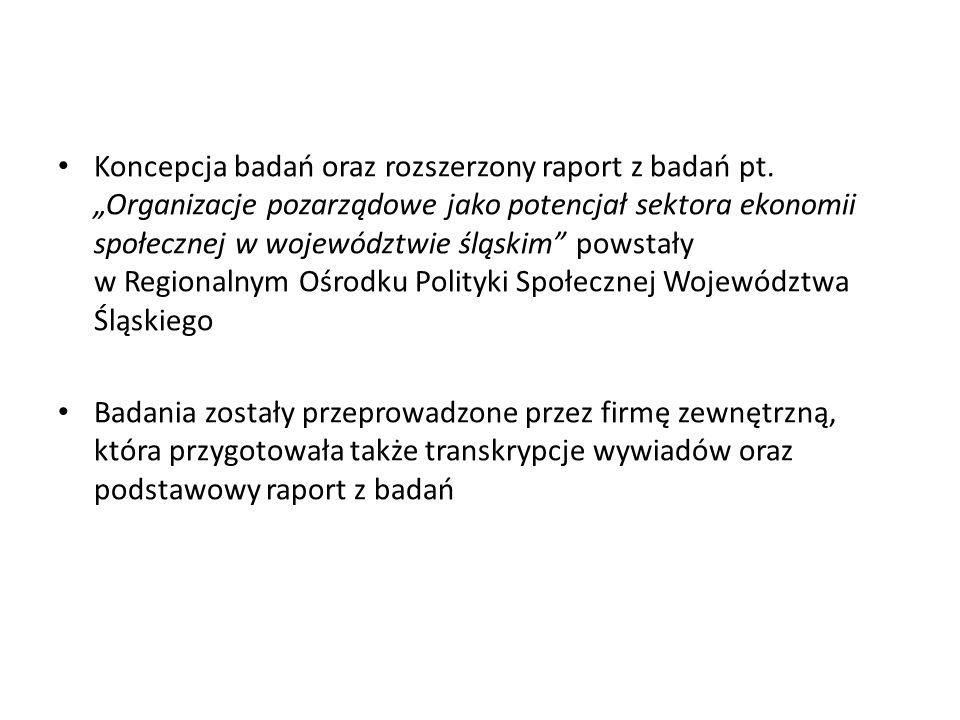 Koncepcja badań oraz rozszerzony raport z badań pt.
