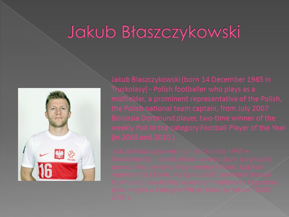 Kamil Stoch (born May 25, 1987 in Zakopane) is a Polish ski jumper and world champion.