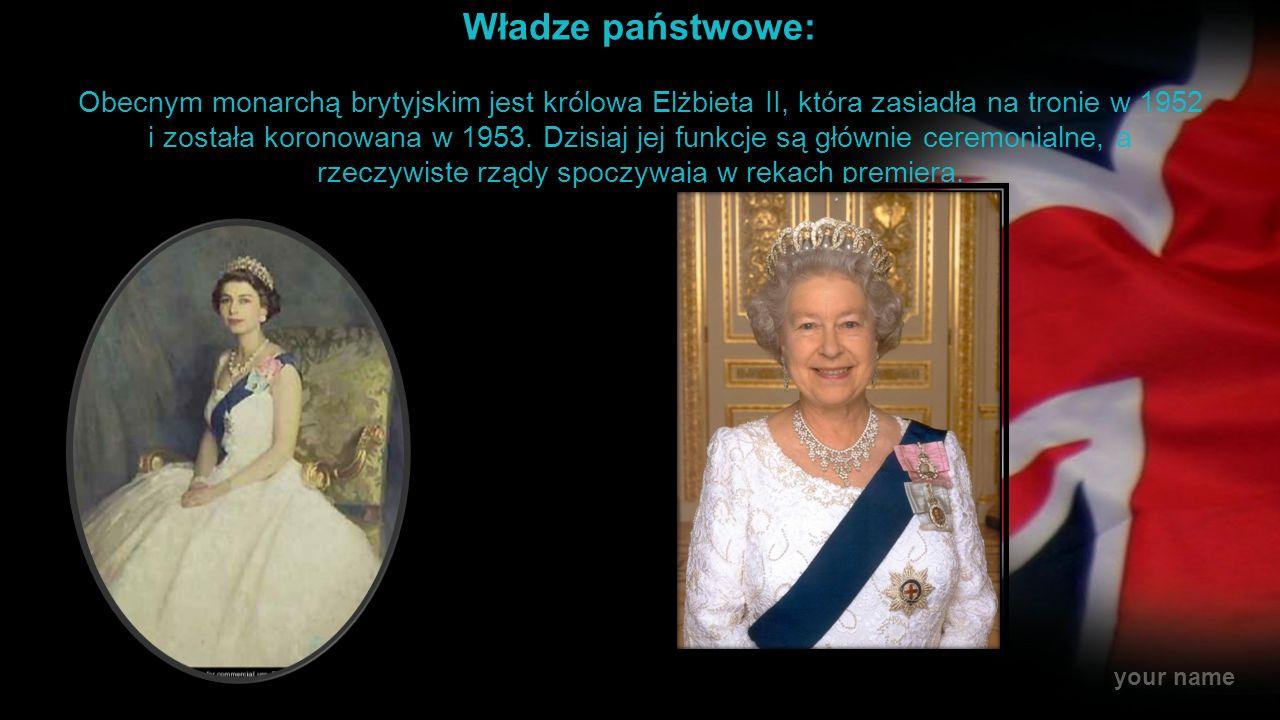 your name Rodzina Królewska Lista obecnych członków brytyjskiej rodziny królewskiej (na podstawie oficjalnej witryny internetowej monarchii brytyjskiej) królowa Zjednoczonego Królestwa Wielkiej Brytanii i Irlandii Północnej, Elżbieta II książę Edynburga, Filip (małżonek królowej) książę Walii, Karol i księżna Kornwalii, Kamila (najstarszy syn królowej i jego małżonka) książę Cambridge, Wilhelm i księżna Cambridge, Katarzyna (starszy syn księcia Walii i jego małżonka) książę Henryk (młodszy syn księcia Walii) książę Yorku, Andrzej oraz księżniczki Beatrycze i Eugenia (syn królowej i jego córki) hrabia Wessex, książę Edward i hrabina Wessex, księżna Zofia oraz Jakub, wicehrabia Severn i Lady Louise Windsor (najmłodszy syn królowej i jego małżonka oraz ich syn i córka) księżniczka Królewska Anna (córka królowej) książę Gloucesteru, Ryszard i księżna Gloucesteru, Brygida (wnuk Króla Jerzego V i jego małżonka) książę Kentu, Edward i księżna Kentu, Katarzyna (wnuk króla Jerzego V i jego małżonka) książę Michał z Kentu i Marie-Christine, księżna Michael z Kentu (wnuk króla Jerzego V i jego małżonka) Lady Ogilvy, księżna Aleksandra (wnuczka króla Jerzego V)