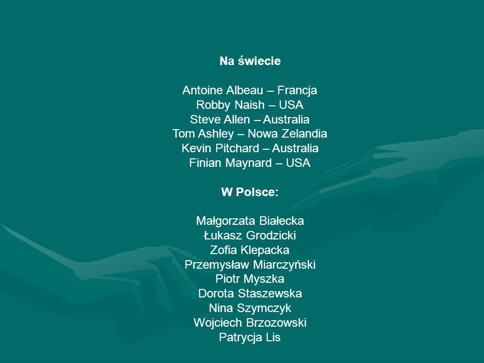 Na świecie Antoine Albeau – Francja Robby Naish – USA Steve Allen – Australia Tom Ashley – Nowa Zelandia Kevin Pitchard – Australia Finian Maynard – U