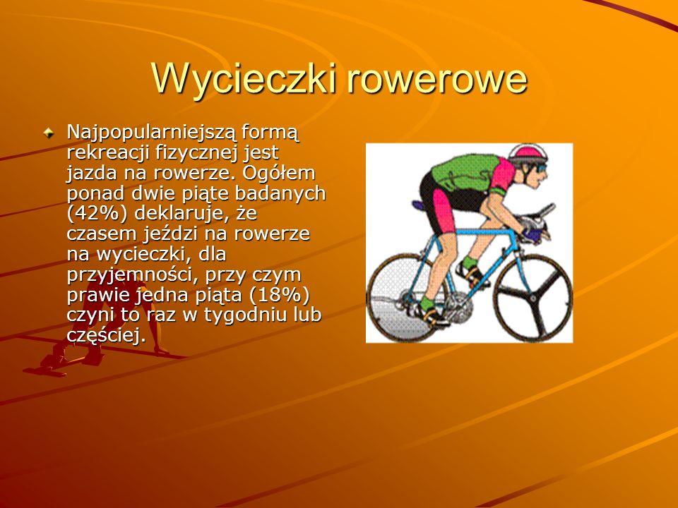 Formy rekreacji Z sondażu poświęconego m. in. różnym formom aktywności fizycznej wynika, że większości dorosłych Polaków (mających 18 lat lub więcej)