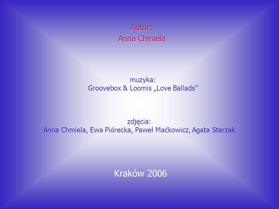 muzyka: Groovebox & Loomis Love Ballads Autor: Anna Chmiela Kraków 2006 zdjęcia: Anna Chmiela, Ewa Piórecka, Paweł Maćkowicz, Agata Starzak