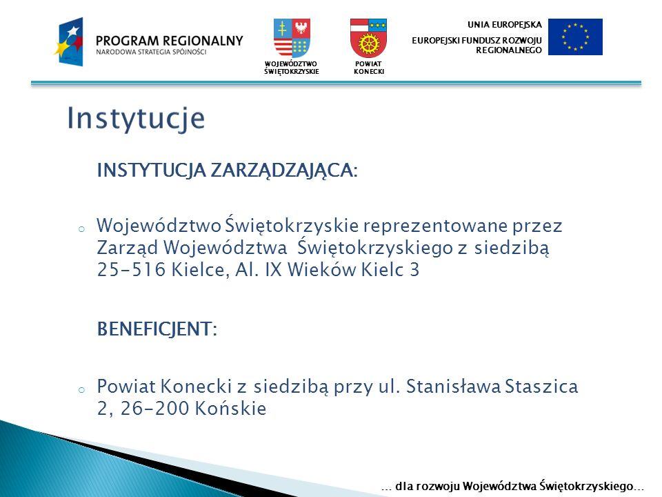 Komitet Sterujący – Starosta Konecki 14 osobowy Zespół projektowy powołany Uchwałą Zarządu Nr 98/2008 z dnia 17 listopada 2008r.