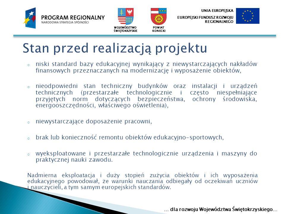 Głównym celem projektu było podniesienie jakości usług edukacyjnych w szkołach i placówkach oświatowych Powiatu Koneckiego.