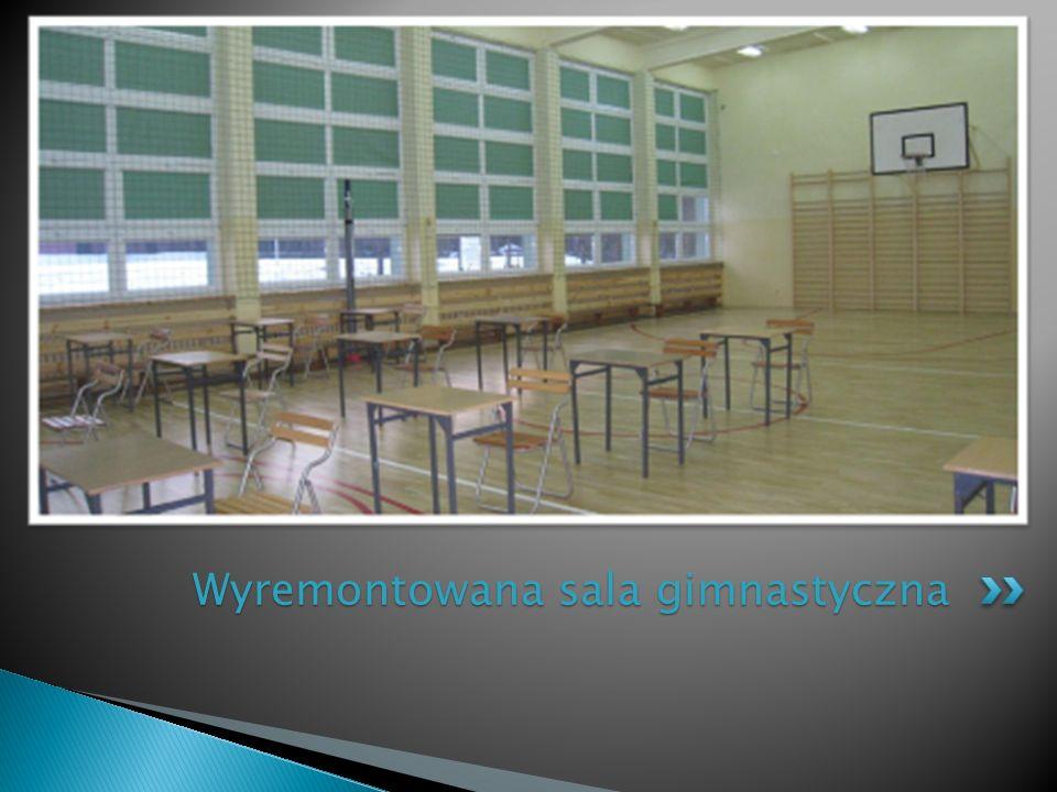 Wyremontowana sala gimnastyczna