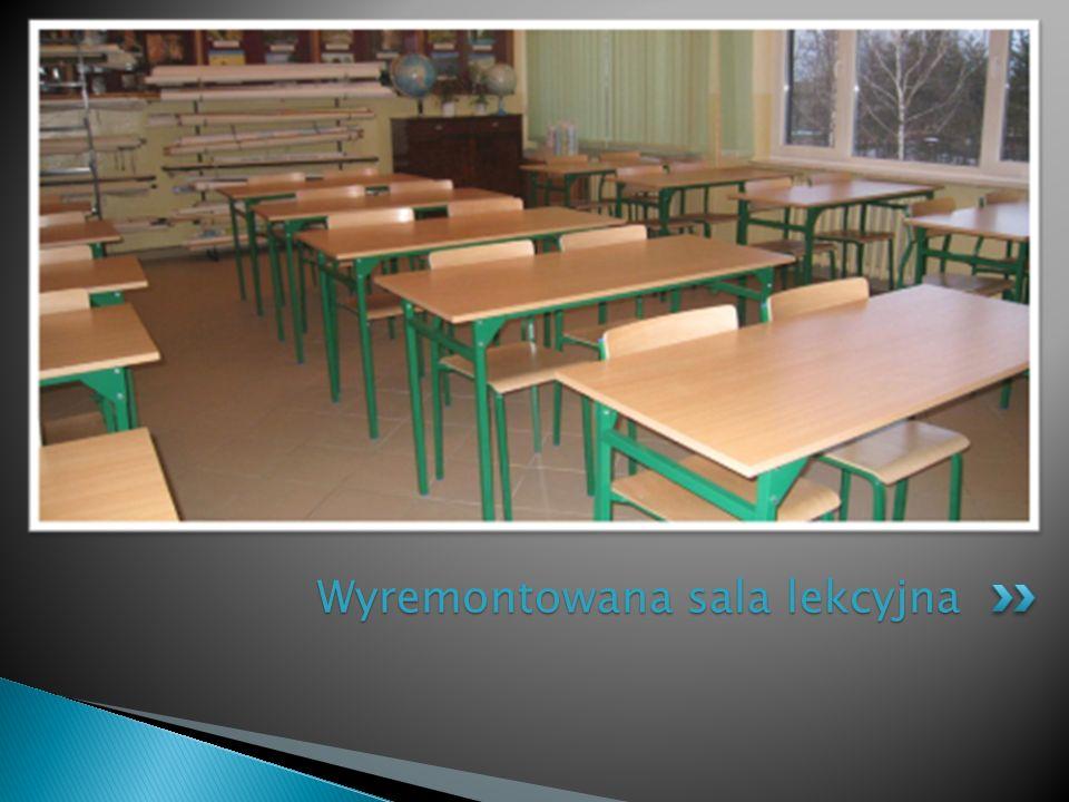 Wyremontowana sala lekcyjna