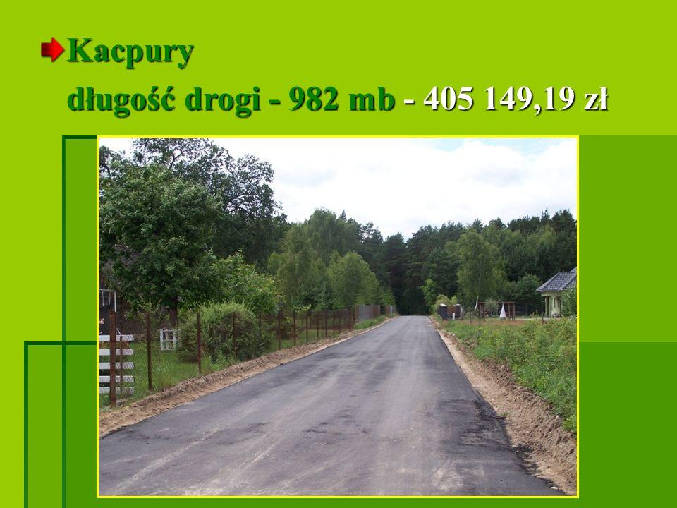 Kalinowo Morgi długość drogi - 544 mb - 242 932,89 zł długość drogi - 544 mb - 242 932,89 zł